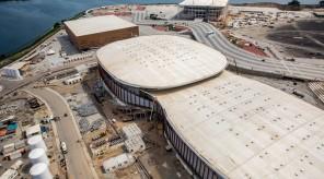 Aquatics Centre, upper right
